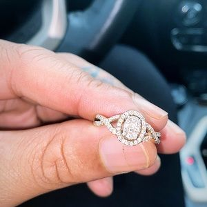 .50ct Diamond love band engagement ring size 7 1/2